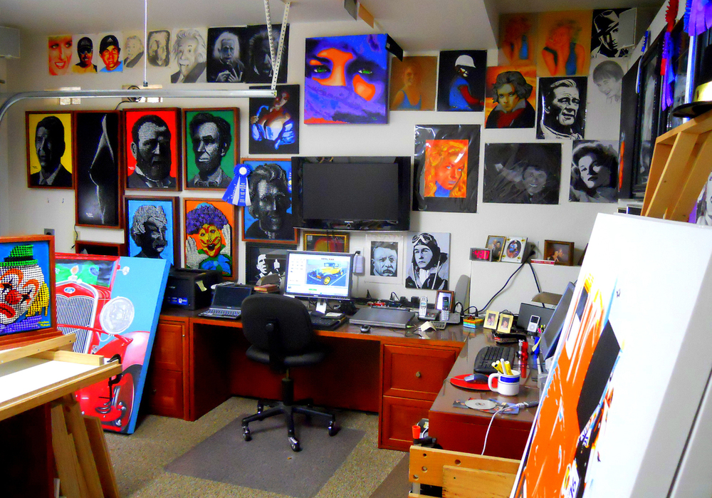 West View Inside Gordon's Studio