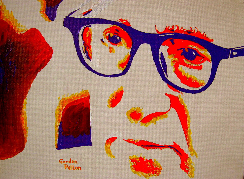 "Woody Allen 2  9"" x 12""  Unframed  Acrylic on Canvas     $290  Giclee Copies Available     PLACE ORDER"