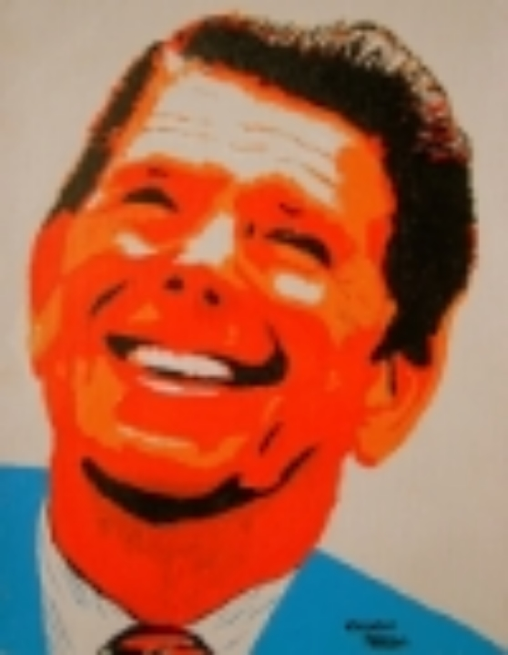 "Ronald Reagan 1   10"" x 12"" Unframed Canvas Acrylic $480  Giclee Copies Available       PLACE ORDER"