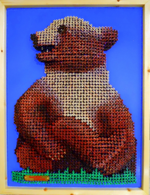 Grizzly Cub 18 x 24  Screws in Plywood, Framed  $2500 PLACE ORDER