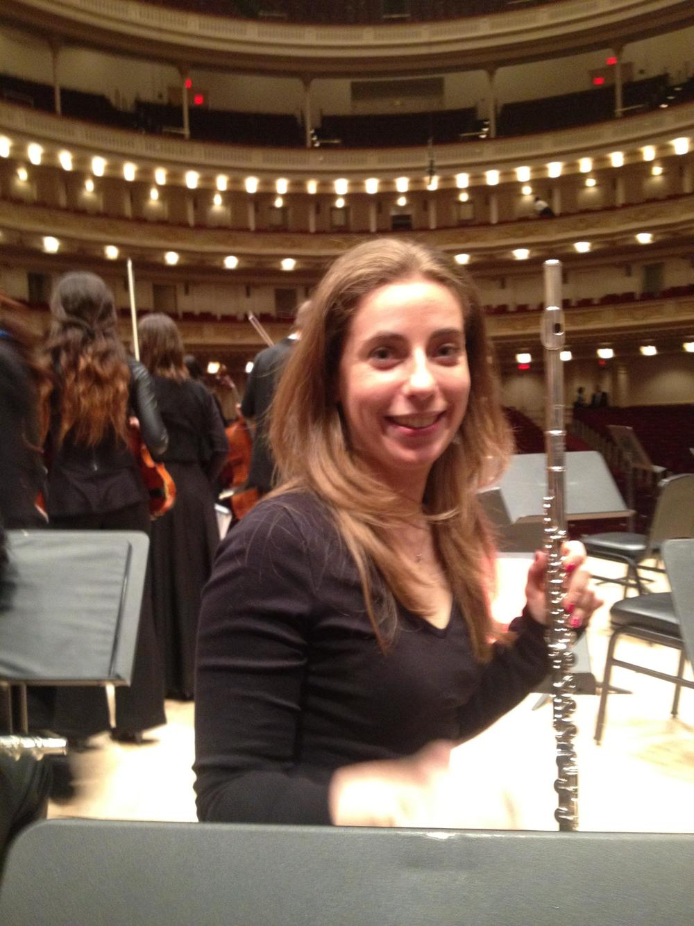Layo Alum Elizabeth Erenberg recently received a Masters Degree from New England Conservatory and is now a professional flutist in Boston. She too played with us at Carnegie. Both Elizabeth and Niv are shining examples of the vision of the Los Angeles Youth Orchestra to instill a love for music that lasts a lifetime.