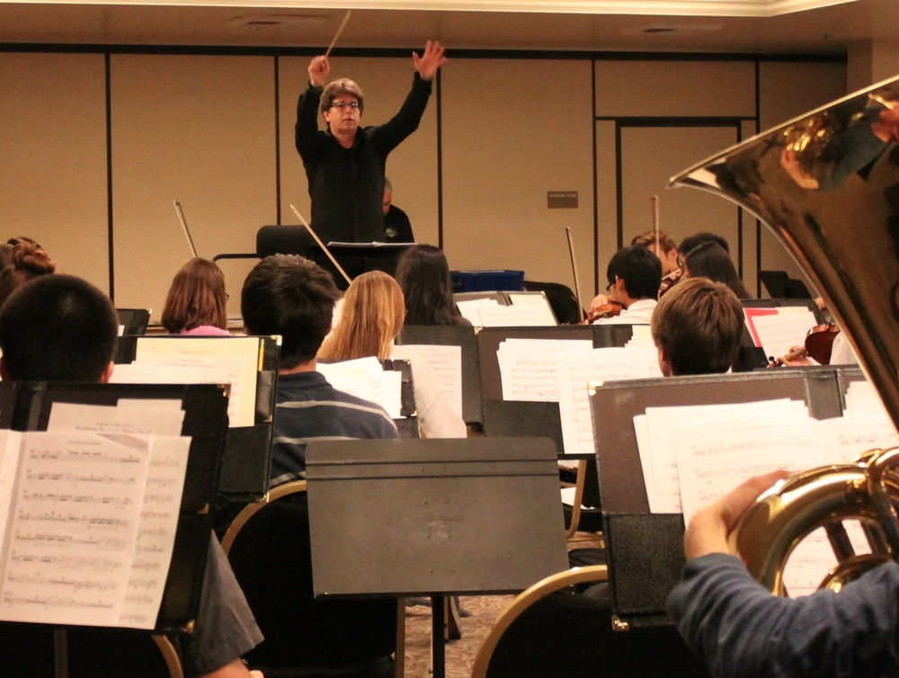 conducting the Conejo Valley Youth Orchestra