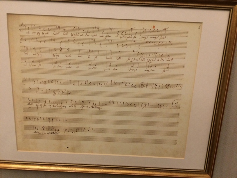 Haydn sketch. His manuscript though was beautiful and meticulous—
