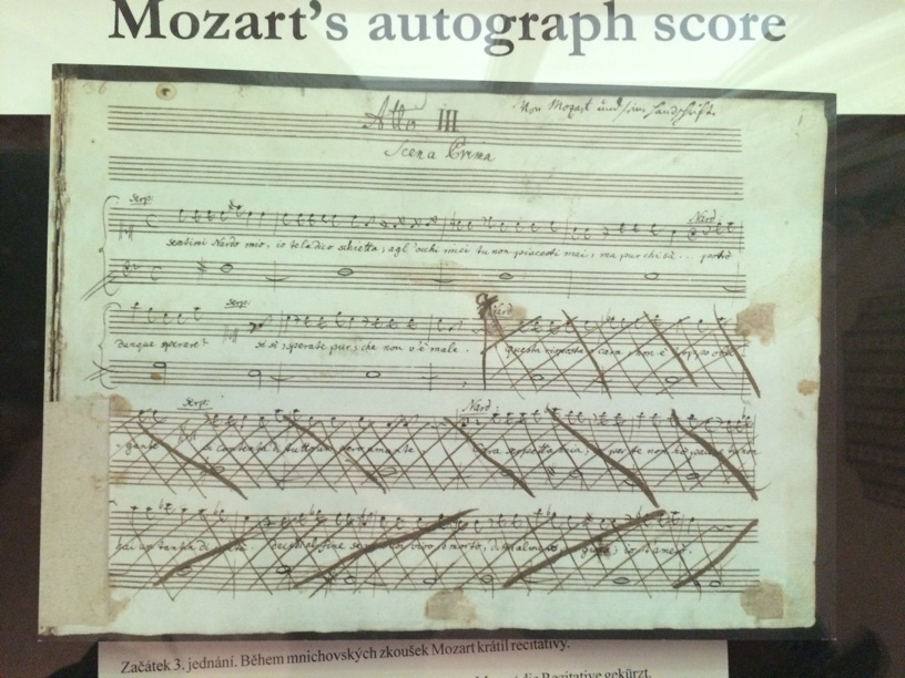 Proof that Mozart changed his mind sometimes :)