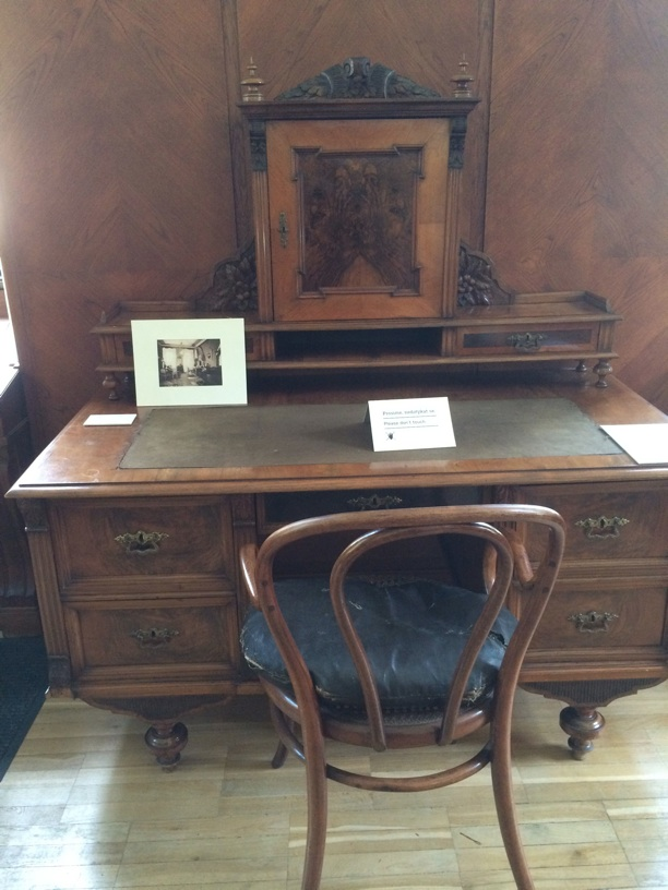Dvorak's writing desk