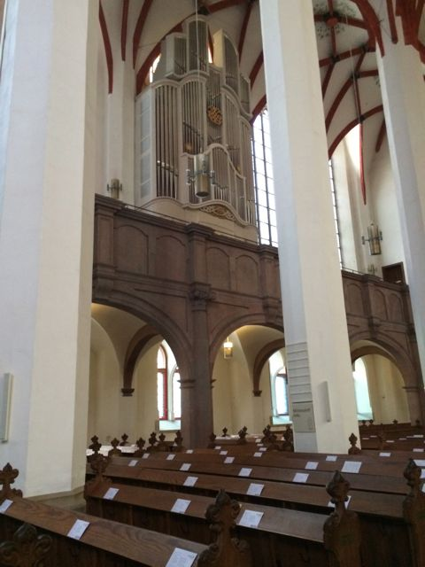 The beautiful Baroque organ in the side loft
