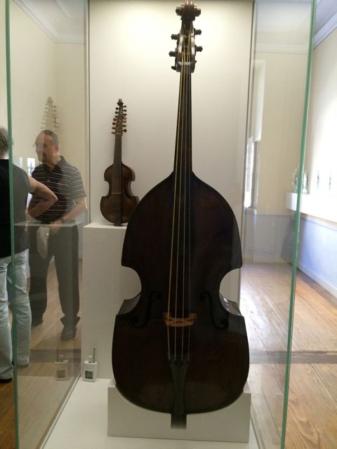 This double bass was one of the St. Thomas instruments during Bach's tenure. Bassists must have played it for Bach's cantata and Passion performances.