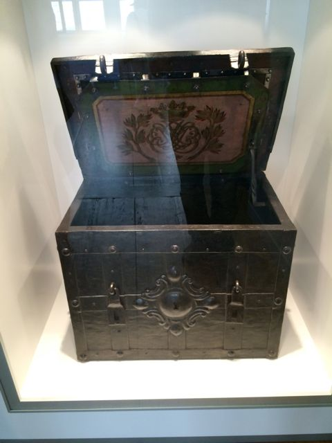 A true highlight of the museum—the recently discovered Bach chest with an 11 bolt locking system.