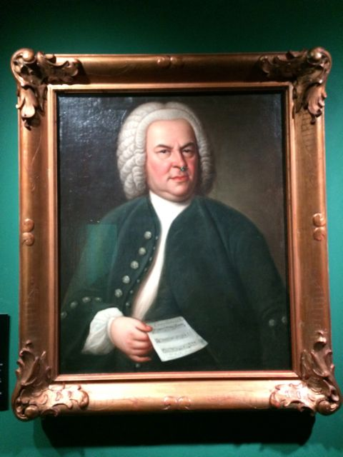 The famous Hausmann portrait of J.S. Bach. What is he holding?