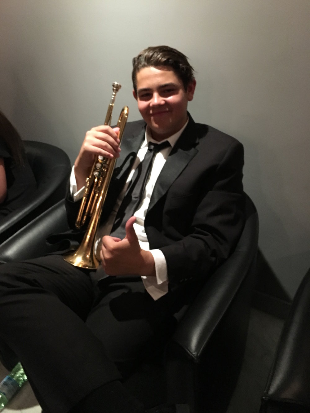 One of our trumpets preparing before our Cremona concert. The maturity and demeanor of the students made us all very proud. Their professionalism was evident to our audiences and all the Italians we encountered.