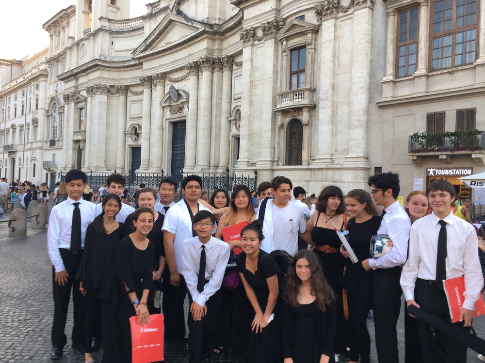 A final celebratory picture with some of the gang in the Piazza Navona after the concert. These students already engage in so many interesting and world-building activities. I learned much about them during the tour. Several are headed off to colleges this fall. I don't think they will ever forget this experience.