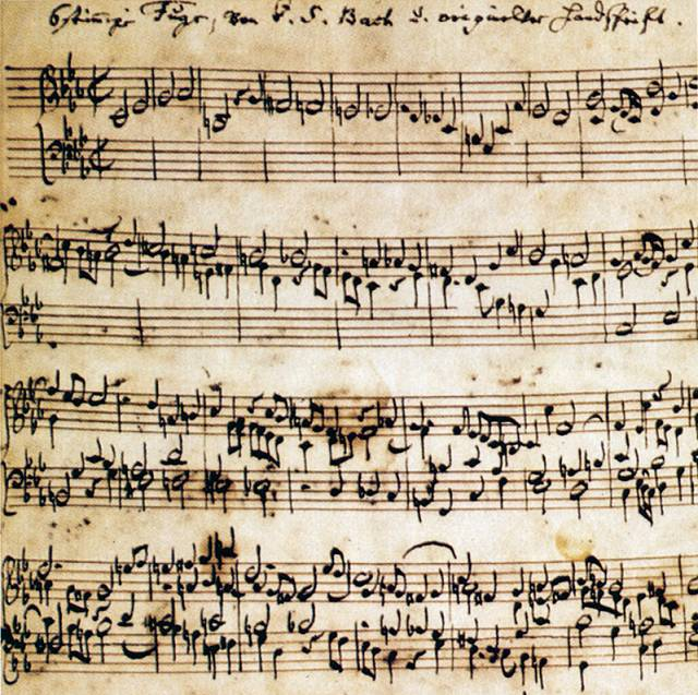 Ricercar from Bach's Musical Offering—note the many instances of chromaticism (sharps, flats, and naturals)