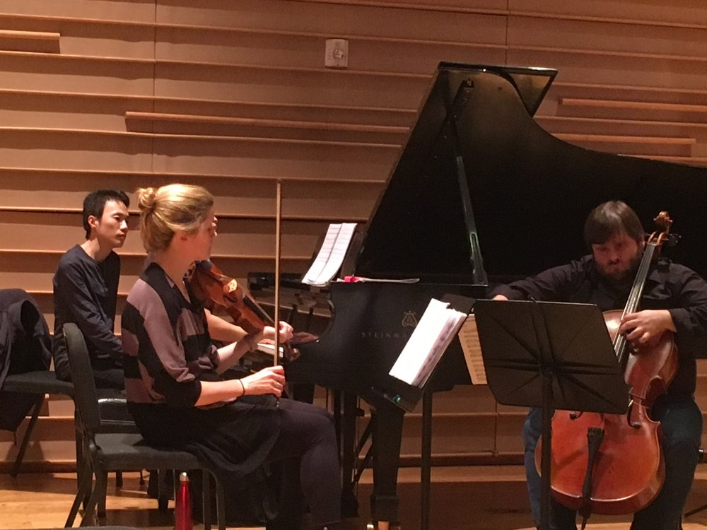 Neave Trio—Anna Williams, Violin; Mikhail Veselov, Cello; Eri Nakamura, Piano (hidden)