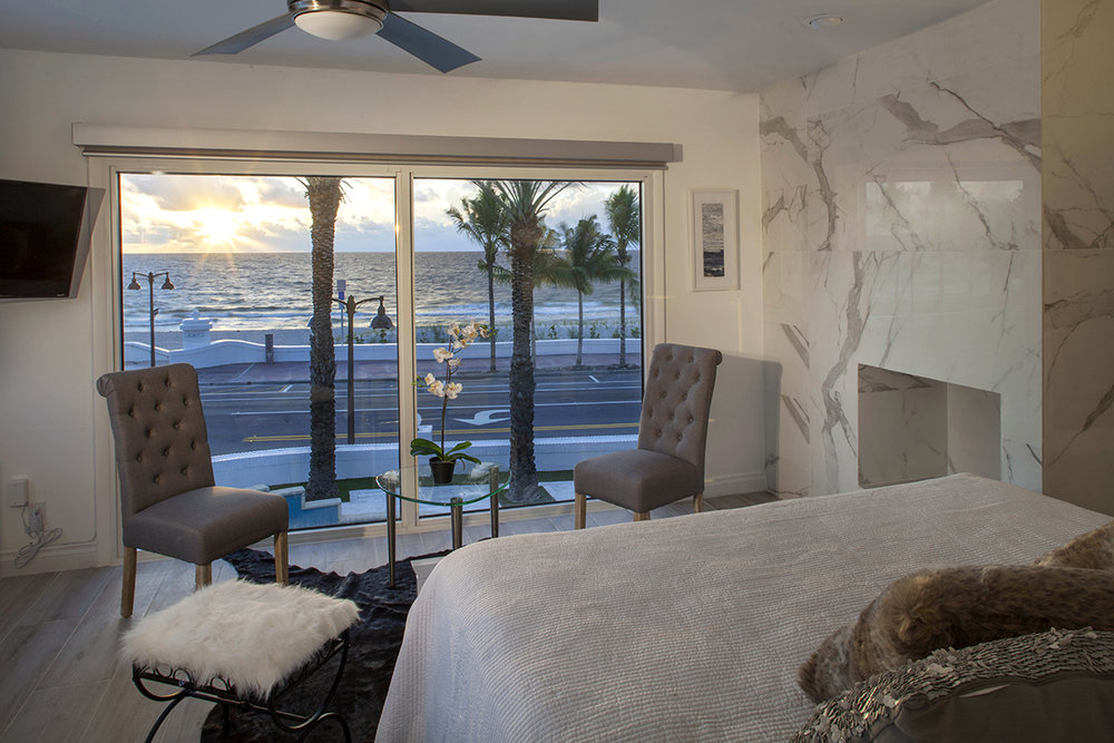 Wake up to the sun in this master bedroom