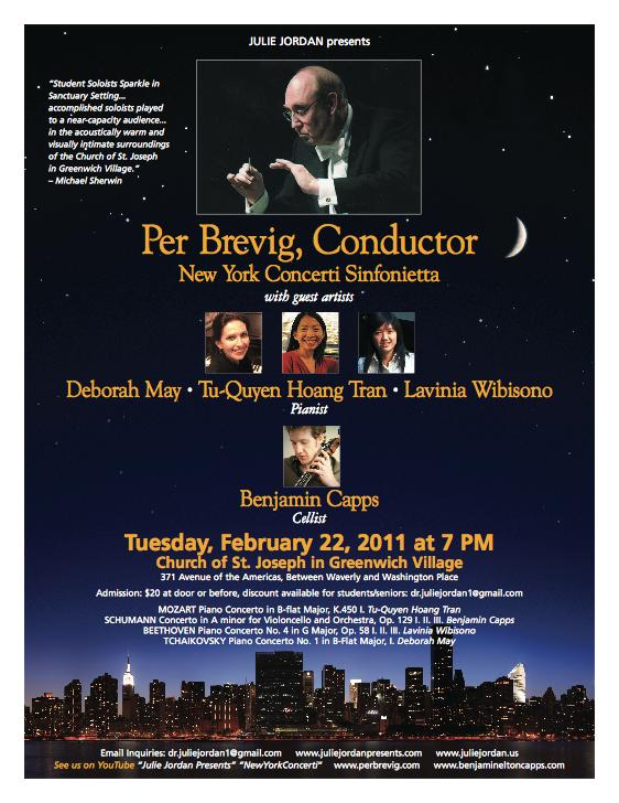 Live Recording with New York Concerti Sinfonietta / NY, 2011