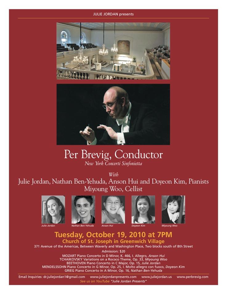 Live Recording with New York Concerti Sinfonietta / NY, 2010
