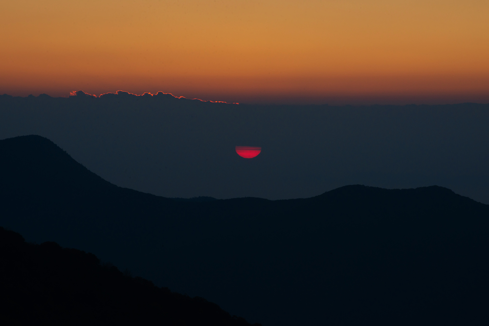 sunrise at Craggy Pinnacle, NC