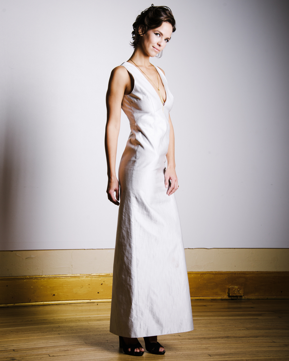 Sarah Johns wearing Angela Kim Designs - hair by Jenna Wilson of Love, Daisy - makeup by Daneille Southcott