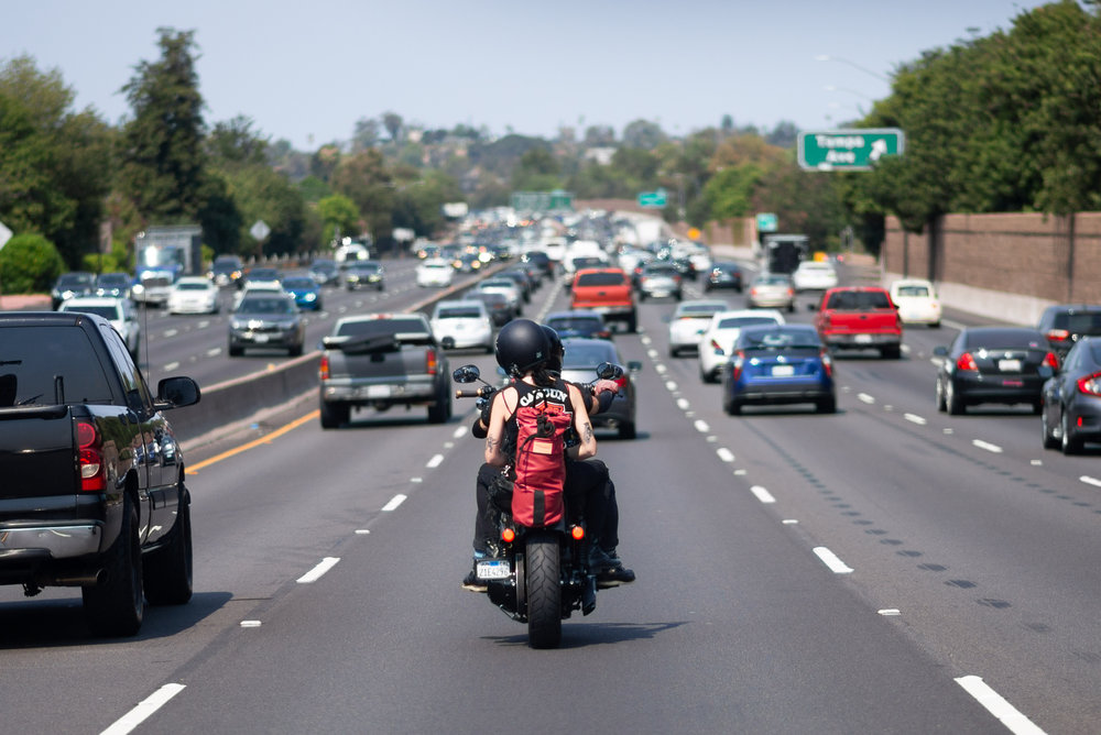 Behind some bikers on the 101.