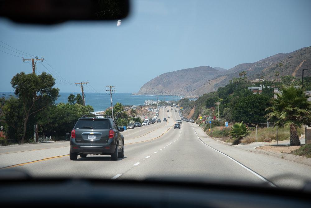 Heading north on Pacific Coast Highway.