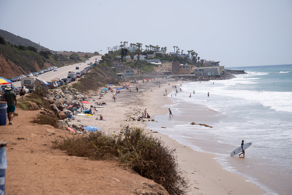 Looking south from El Matador Beach.