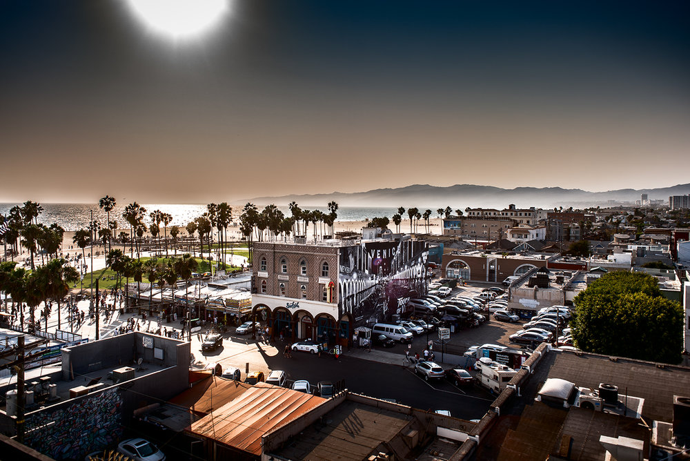 Tricked out photo of Venice from High Rooftop Lounge.