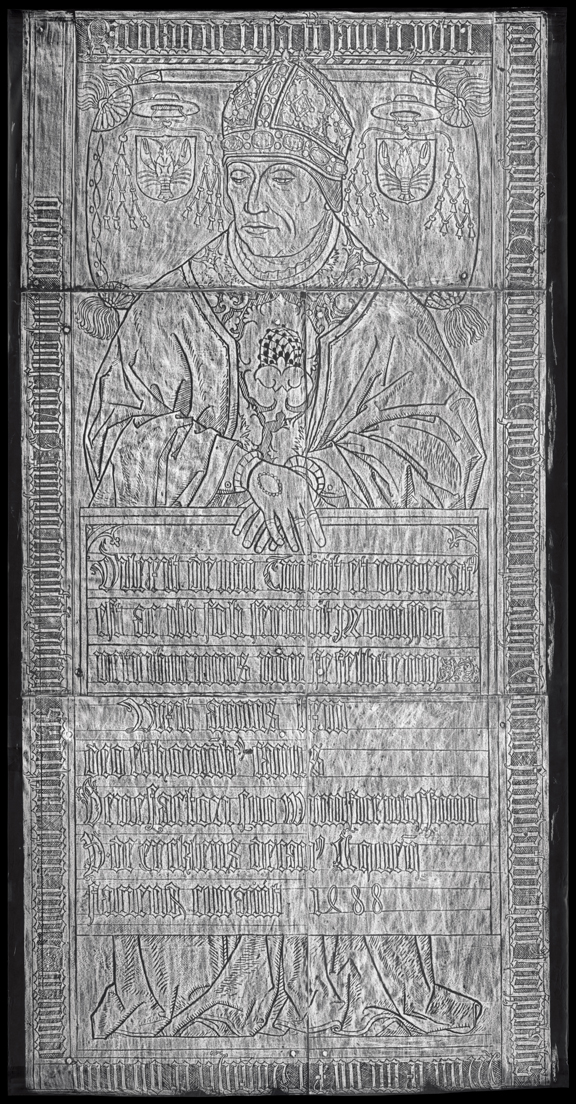 Rubbing of Cusanus' brass memorial at St. Nicholas Hospital in Kues