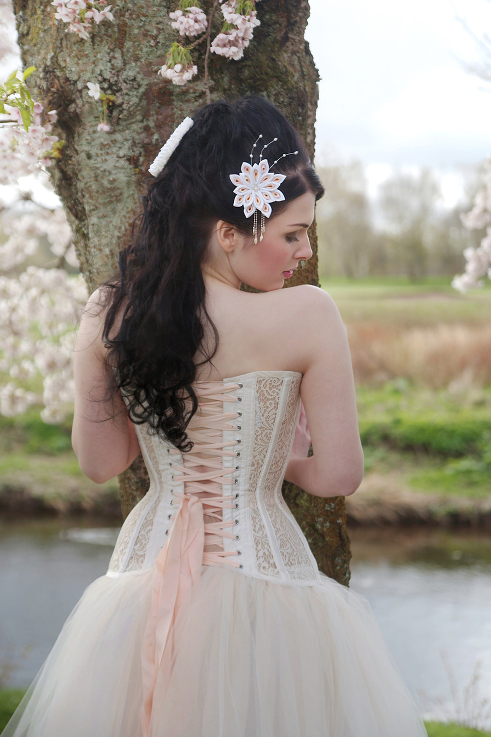 Image by Lousise  Cantwell Photography. Model, Nicolette McKeown. Featuring accessories by Yume Kanzashi