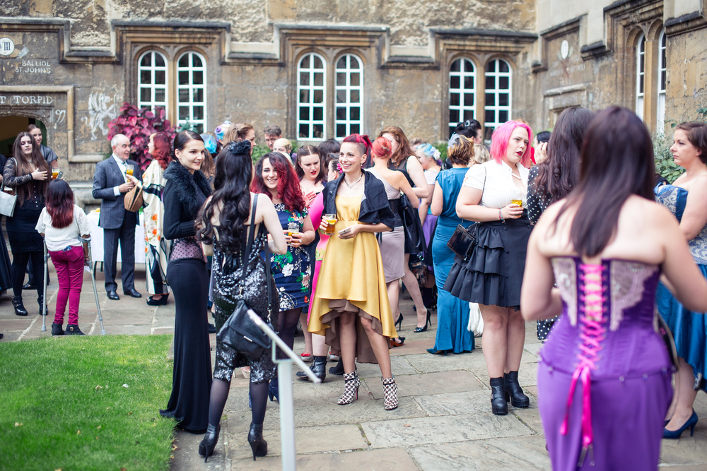 Last year's delegates and guests gathering for the Saturday evening gala dinner. Image copyright Chris Murray 2015