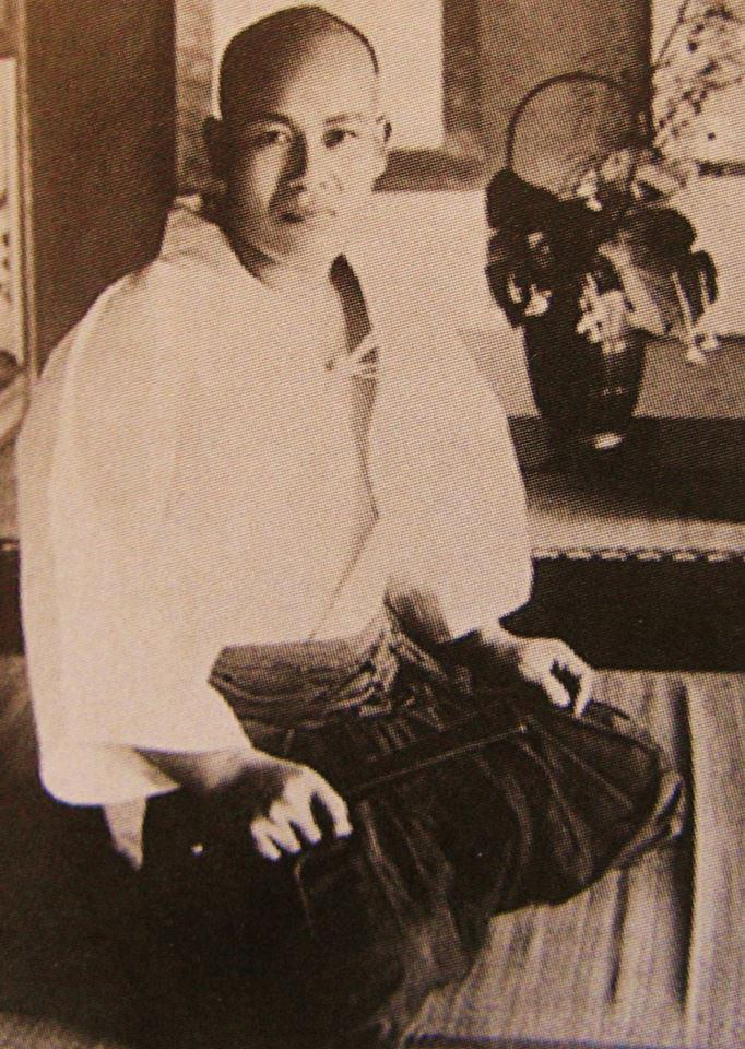 morihei ueshiba, founder of aikido, as a young man.