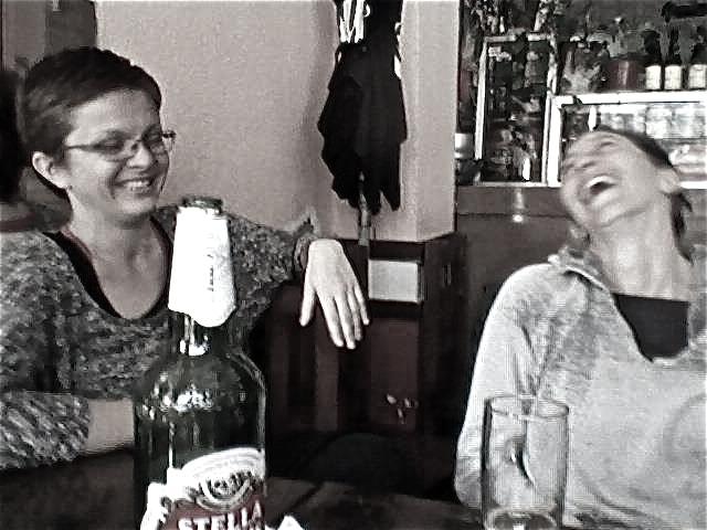 las guerreras laughin' b&w.jpg