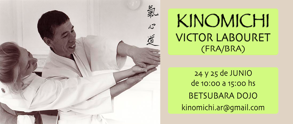 Para mas información sobre kinomichi y/o el seminario, contacte a Camilo Vacalebre : kinomichi.ar@gmail.com