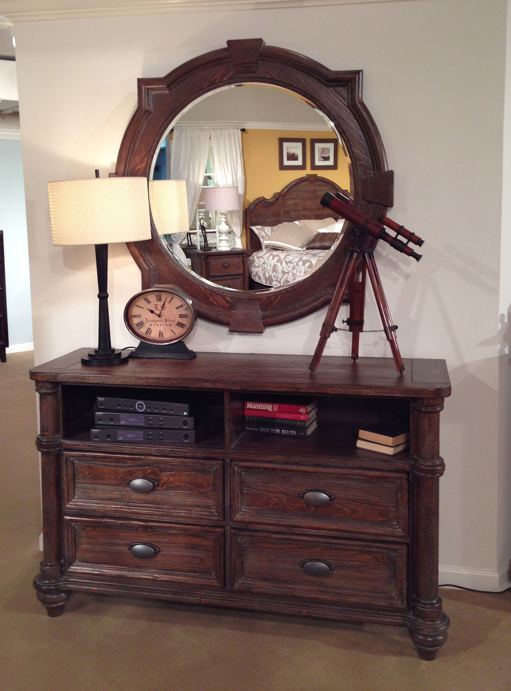 Entertainment Furniture with mirror