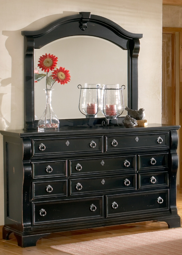 Seven Dresser and Mirror