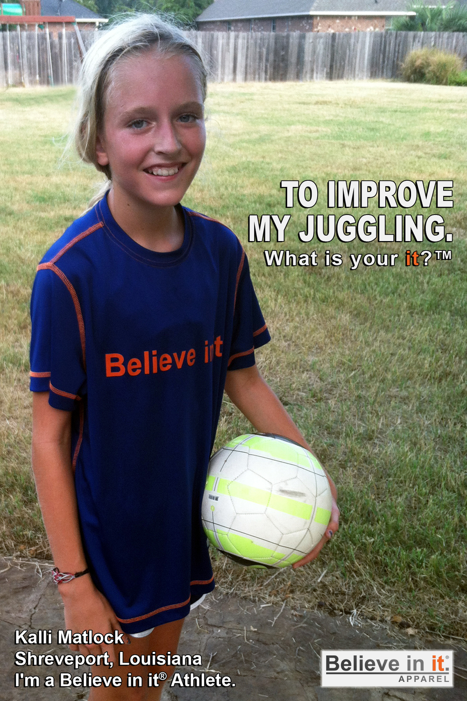 Kalli Matlock Believe in it Athlete