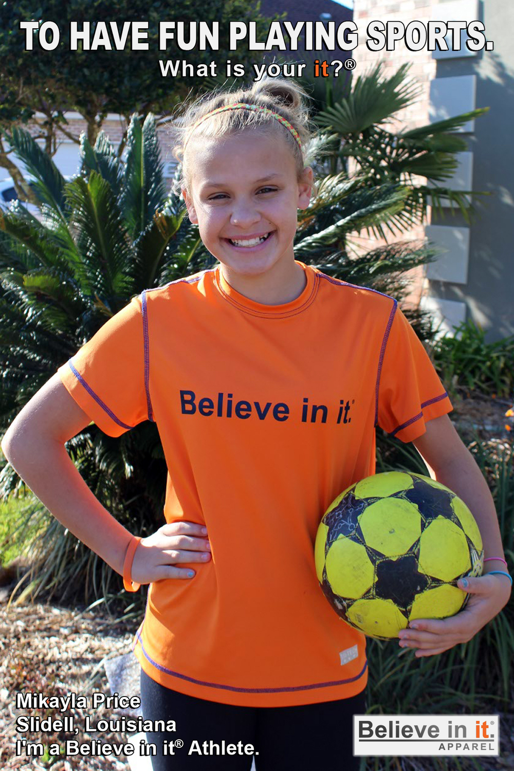 Mikayla Price Believe in it Athlete