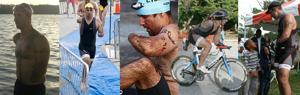 Double Arm Amputee Triathlete Gives Back September 3, 2014