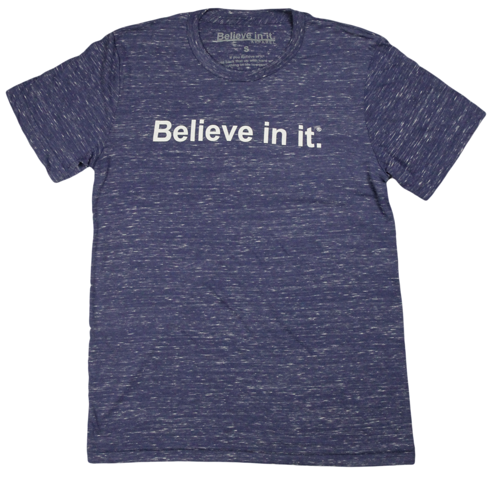 Navy and White Marble Believe in it® Shirt