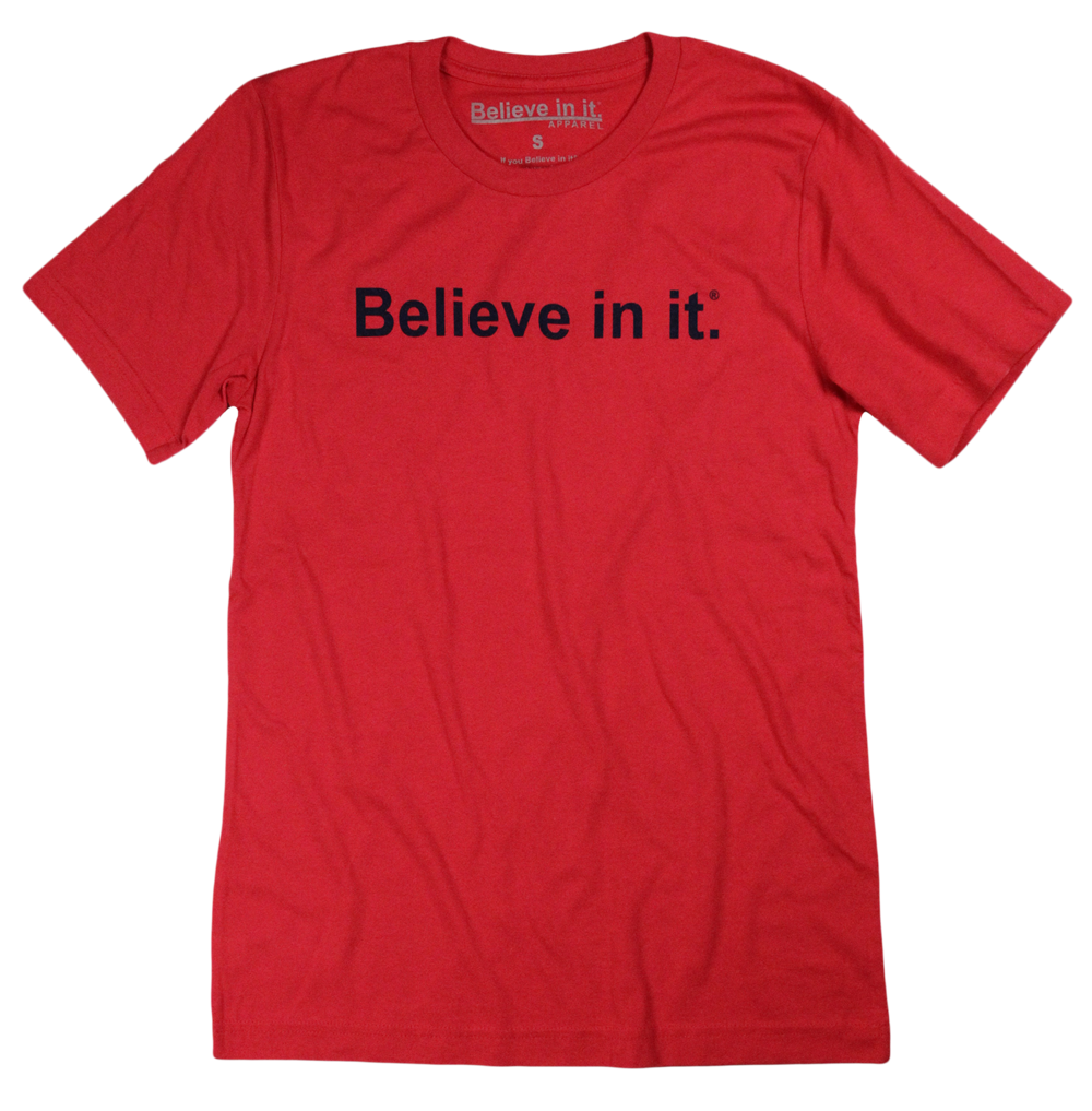Red and Navy Believe in it® Shirt