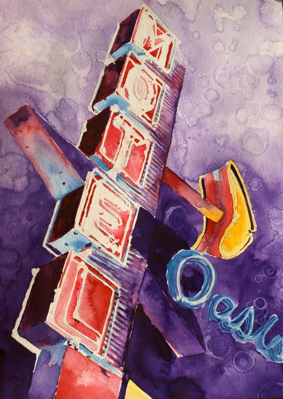 Oasis Motel Neon