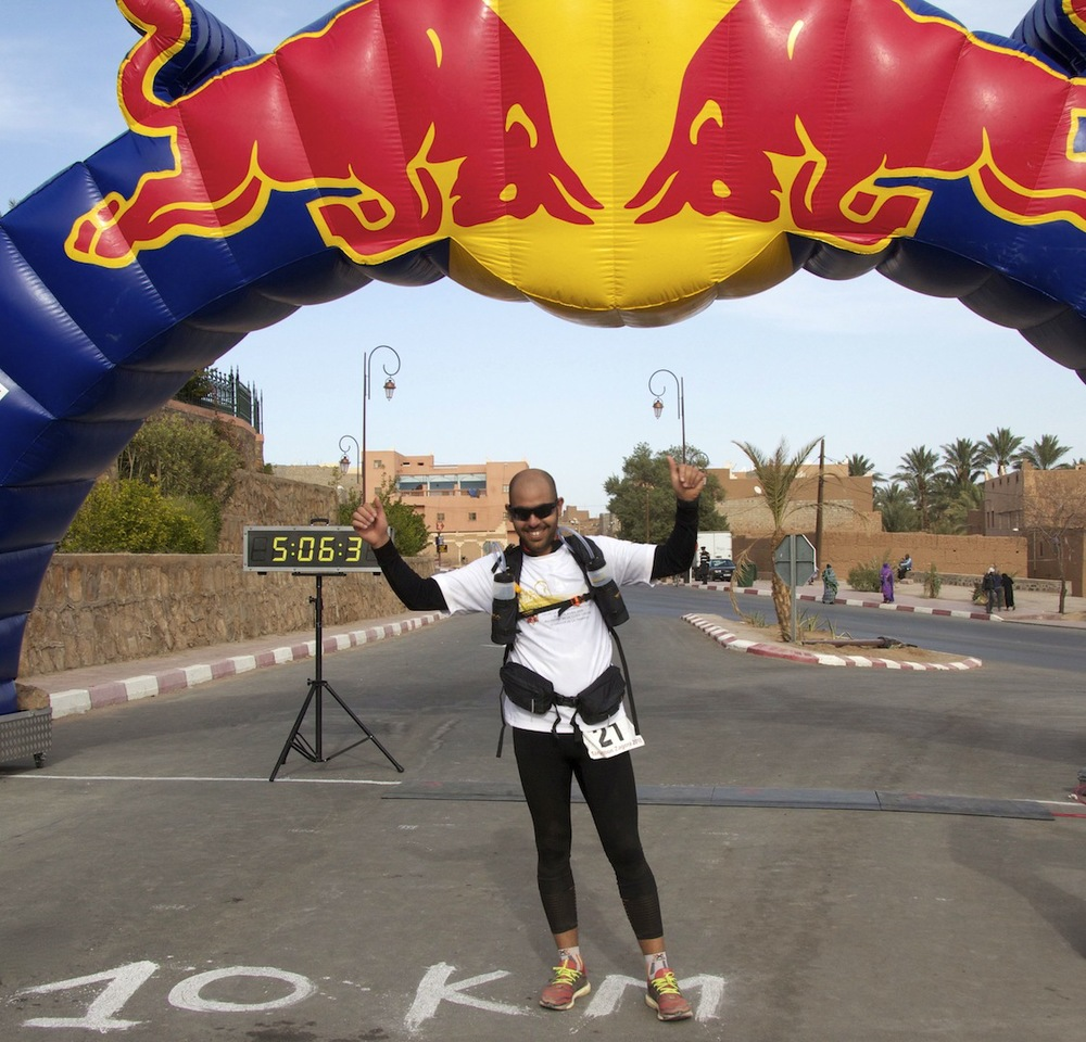 Sidi-Mohammad Rahhaoui Finish Line Zagora Marathon 2013.jpg