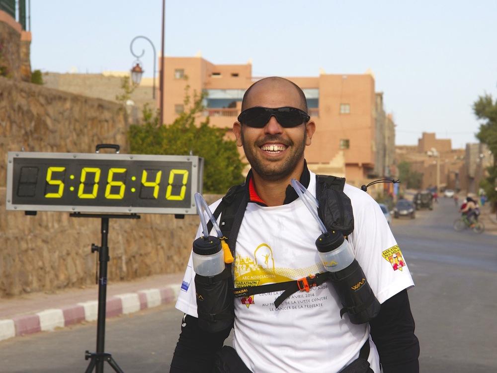 Sidi-Mohammad Rahhaoui Finish Line Zagora Marathon 2013jpg