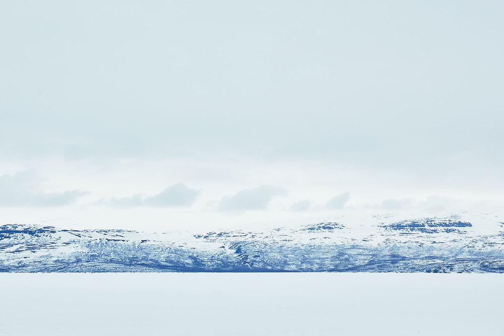 Lappland, Schnee, See, Winter