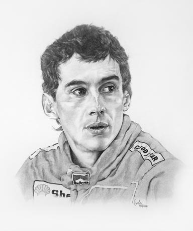 Senna, drawn by my father, limited edition of 50