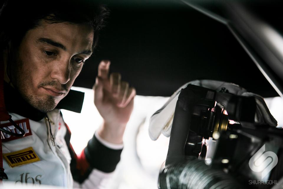 Alvaro Parente performing system checks on the grid in P2