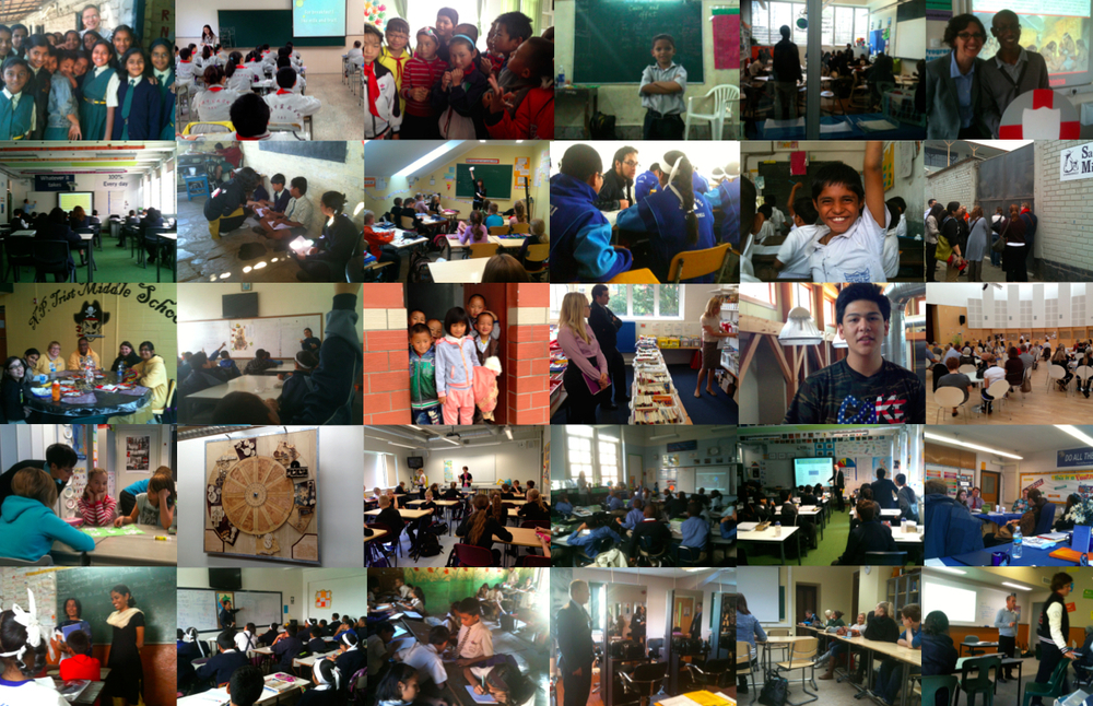 Some of the classrooms around the world I have visited.