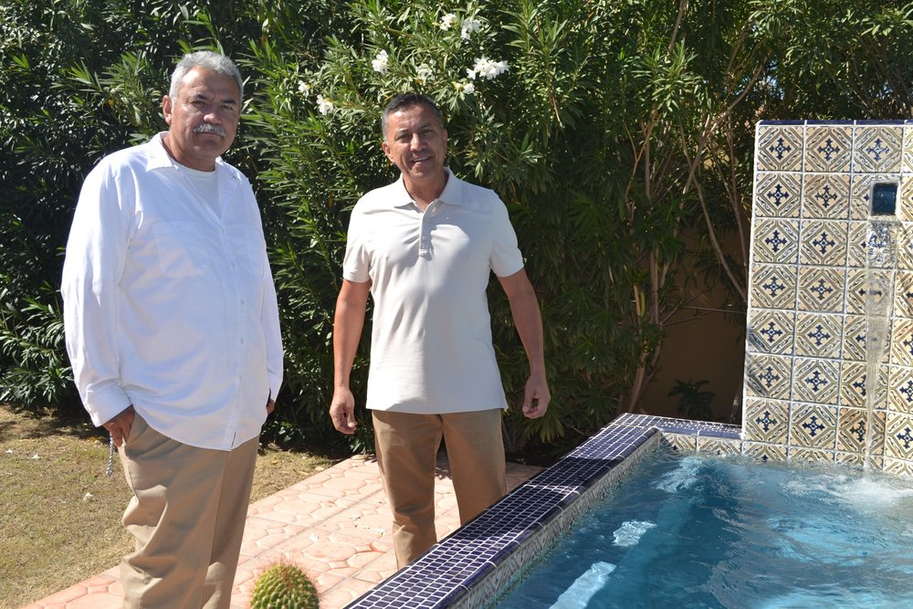 Victor(right) whom has 18 years of experience in the pool industry and Joel(left) whom has 30 years of experience in the pool industry are the owners of Mercury Pools.  Victor personally handles all the estimates while Joel oversees all the work done by our own crews.