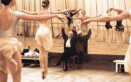 Taking class at the Bolshoi in 1999