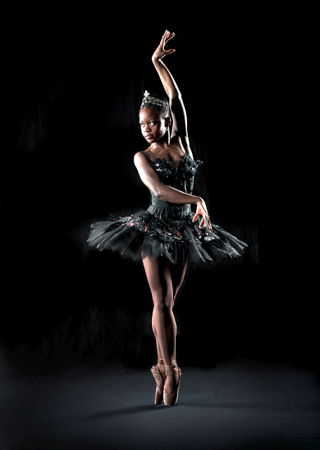 Michaela as the Black Swan for During her time with the Dance Theatre of Harlem. Photo courtesy of Dance Theatre of Harlem.