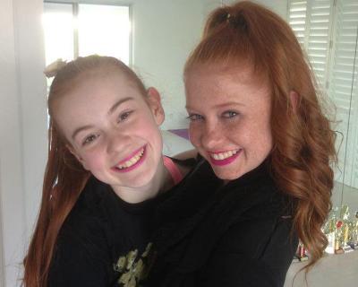 Ashi (left) with older sister Dani.